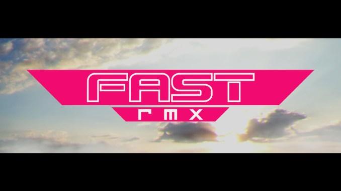 """Das Bild zeigt den Schriftzug """"FAST rmx"""" in den Credits aus dem gleichnamigen Future-Racer."""