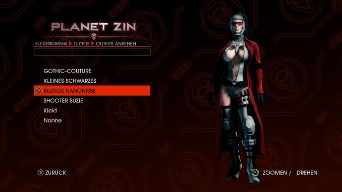 Das Bild zeigt den Spieler mit einem speziellen Outfit, was an eine Art Assassinen-Nonne erinnert.