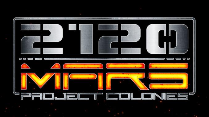 Zu sehen ist das offizielle Logo von 2120 Mars: Projekt Colonies