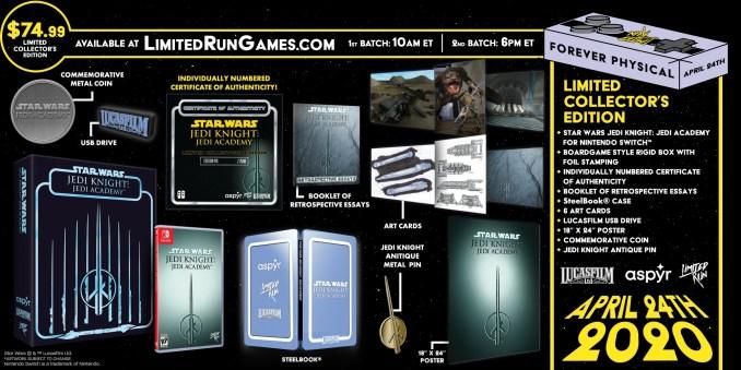 Su sehen ist das offizielle Werbebanner der limitierten Collectors Edition von Jedi Knight: Jedi Academy.