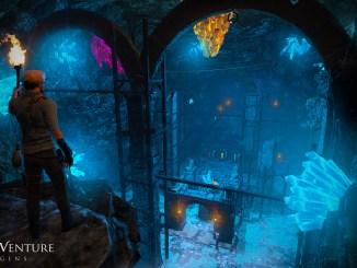 Das Bild zeigt eine Ruinen Passage in Adam's Venture: Origins