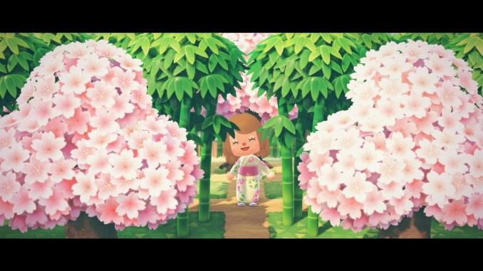 Dieses Bild zeigt einen kleinen Ausblick in meinen japanischen Garten in Animal Crossing: New Horizons.