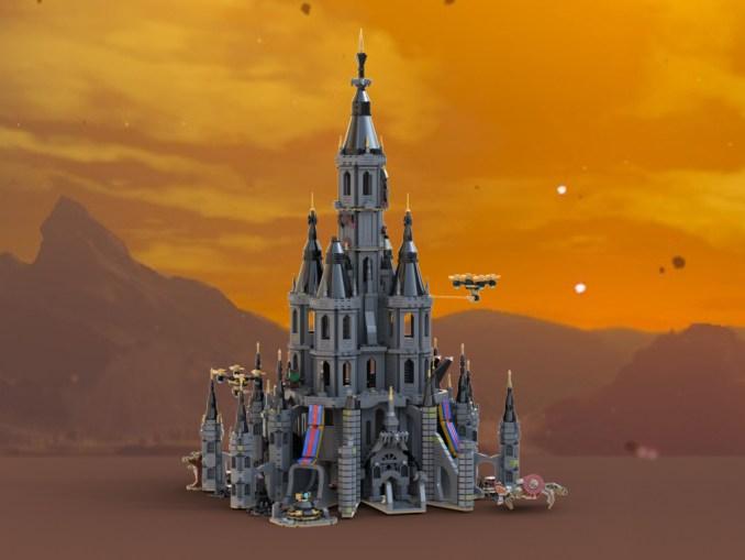 Das Bild zeigt das LEGO-Set zu Hyrule Castle aus Breath of the Wild.