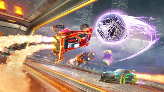 """Das Bild zeigt den neuen """"Heatseeker""""-Modus für """"Rocket League""""."""