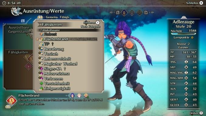 """Das Bild zeigt eine Liste an passiven Fähigkeiten aus """"Trials of Mana""""."""