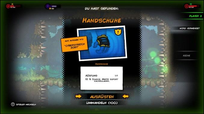 """Das Bild zeigt ein Ausrüstungsteil aus """"Fury Unleashed"""". Hierbei handelt es sich um einen Handschuh der uns Schutz bietet."""
