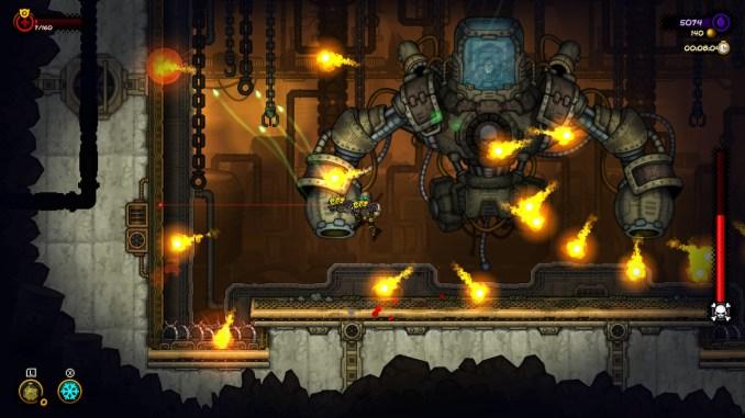 """Das Bild zeigt einen Ausschnitt aus einem hitzigen Bosskampf aus """"Fury Unleashed""""."""