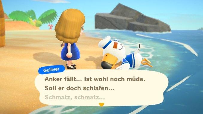 Das Bild zeigt Gulliver bewusstlos am Strand.