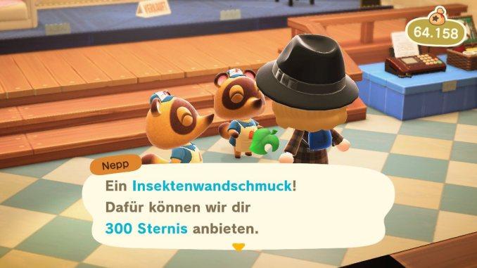 Das Bild zeigt den Verkaufswert bei Nepp und Schlepp von sagenhaften 300 Sternis.