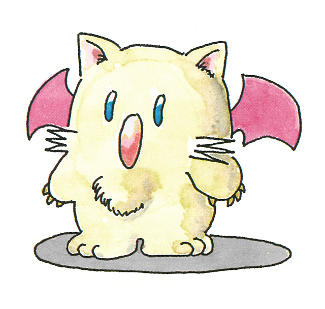 """Das Bild zeigt das Konzeptart eines Mogrys aus """"Final Fantasy""""."""