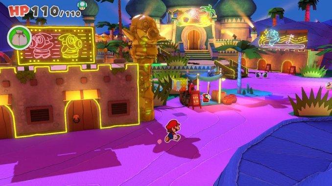 """Das Bild zeigt eine Szene aus """"Paper Mario: The Origami King"""", Platz 16 der eShop-Charts."""