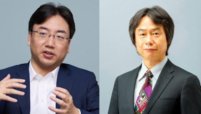 Das Bild zeigt Shuntaro Furukawa und Shigeru Miyamoto.