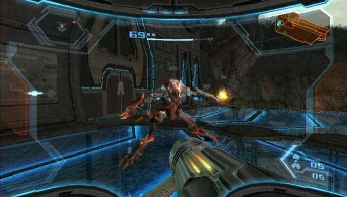 """Das Bild zeigt ein Spielausschnitt aus der """"Metroid Prime Trilogy""""."""