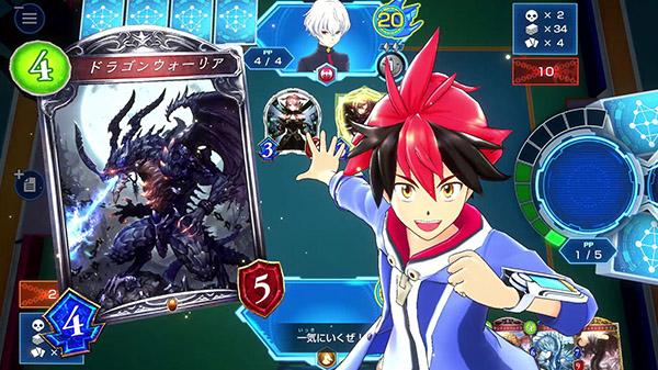 """Das Bild zeigt den Schüler Hiiro bei einem Kartenduell in """"Shadowverse: Champions Battle""""."""