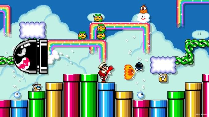 """Das Bild zeigt, dass es auch Hintergrundbilder zu """"Super Mario Maker 2"""" gibt."""