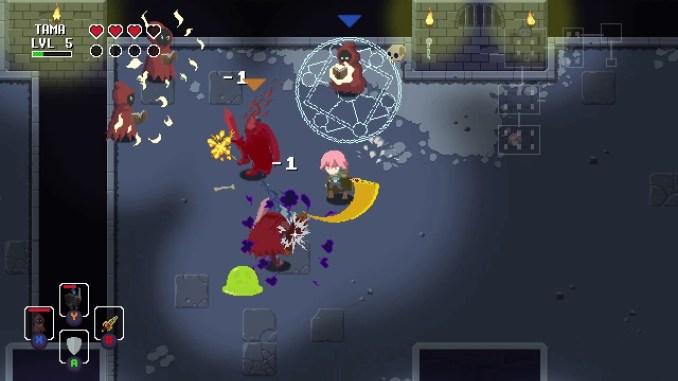 Das Bild zeigt eine Spielszene aus Sword of the Necromancer