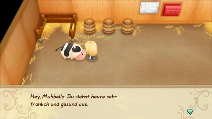 """Das Bild zeigt meine Kuh Muhbella aus dem Spiel """"Story of Seasons: Friends of Mineral Town""""."""