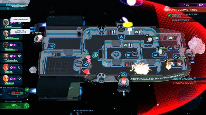 """Das Bild zeigt ein individuell erstelltes Raumschiff aus dem Spiel """"Space Crew""""."""