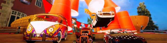"""Das Bild zeigt einige Miniatur-Autos aus dem Spiel """"Super Toy Cars 2""""."""