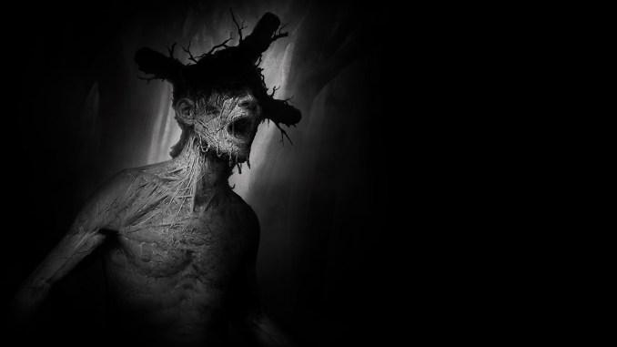 """Das Bild zeigt eine Kreatur aus dem Horrorspiel """"Darkwood""""."""