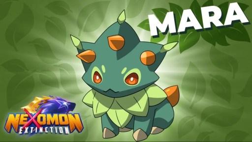 Das Bild zeigt Mara, das Pflanzen-Nexomon.
