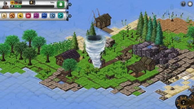 """Das Bild zeigt einen Wirbelsturm aus dem Spiel """"Seeds of Resilience""""."""