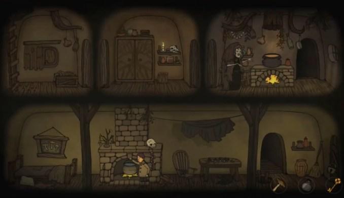"""Das Bild zeigt das dunkle Setting in """"Creepy Tale""""."""