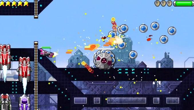 """Das Bild zeigt die Shooter-Action in """"Destructivator 2""""."""