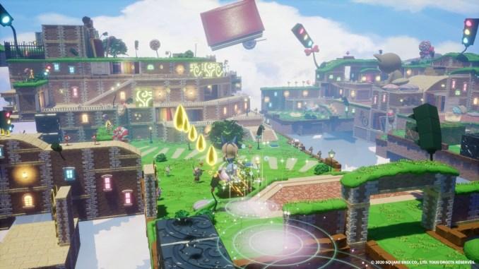 """Das Bild zeigt eine farbenfrohe Welt in """"Balan Wonderworld""""."""