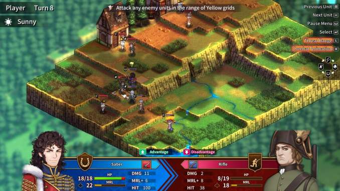 """Das Bild zeigt eine dynamische Umgebung aus dem Spiel """"Banner of the Maid""""."""