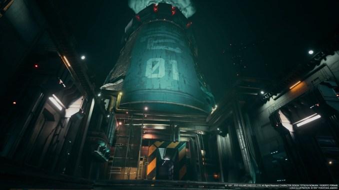 """Das Bild zeigt den Eingang vom Reaktor in Sektor 1 im """"Final Fantasy VII Remake""""."""