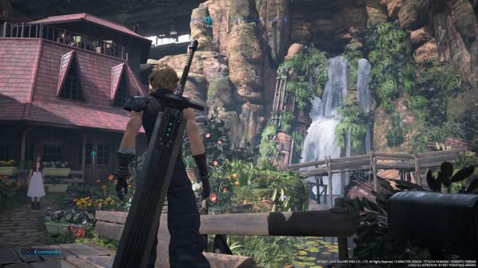 """Das Bild zeigt Aeriths Zuhause in """"Final Fantasy VII Remake""""."""