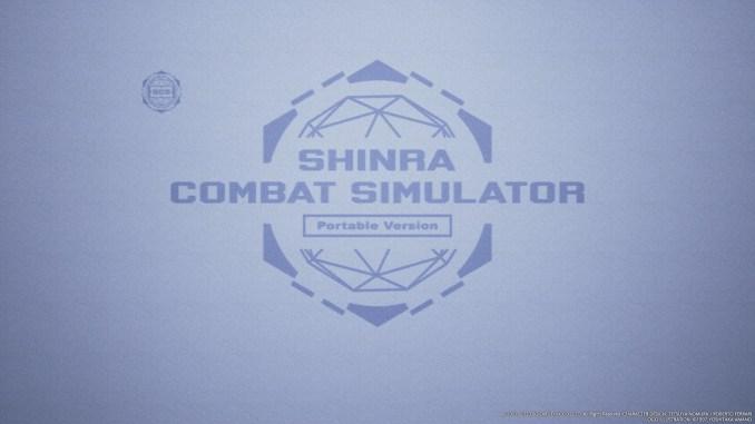 Das Bild zeigt den Startbildschirm vom Shinra Combat Simulator.