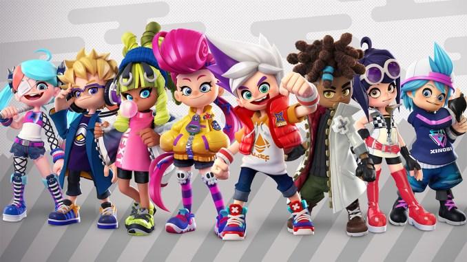 """Das Bild zeigt die wichtigsten Charaktere aus dem Spiel """"Ninjala""""."""