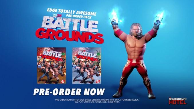 """Das Bild zeigt die Vorbestellermöglichkeiten von """"WWE 2K Battlegrounds""""."""