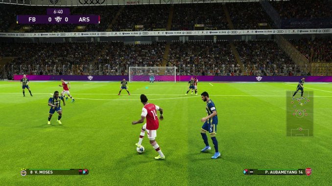 """Das Bild zeigt Aubameyang in """"Pro Evolution Soccer 2020""""."""
