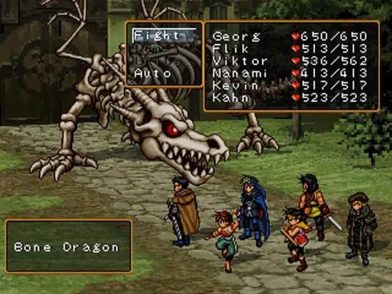 """Das Bild zeigt eine Kampfszene aus Suikoden II, dem geistigen Vorgänger von """"Eiyuden Chronicle""""."""