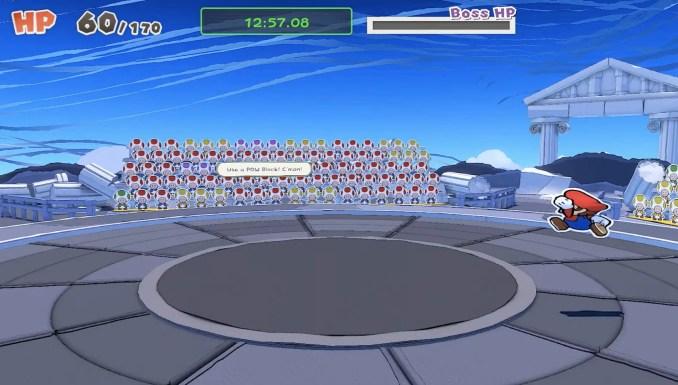 """Das Bild zeigt den nach dem Update aufgetauchten Bug in """"Paper Mario: The Origami King""""."""