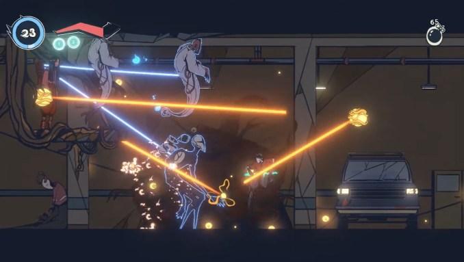 """Das Bild zeigt das Kampfgeschehen in """"Sonzai""""."""