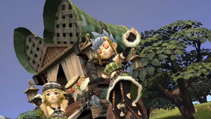 Das Bild zeigt eine tanzende Selkie aus Final Fantasy Crystal Chronicles