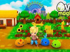 """Das Bild zeigt das Logo des Spieles """"Ova Magica""""."""