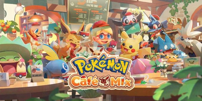 """Das Bild zeigt das Logo von """"Pokémon Café Mix""""."""