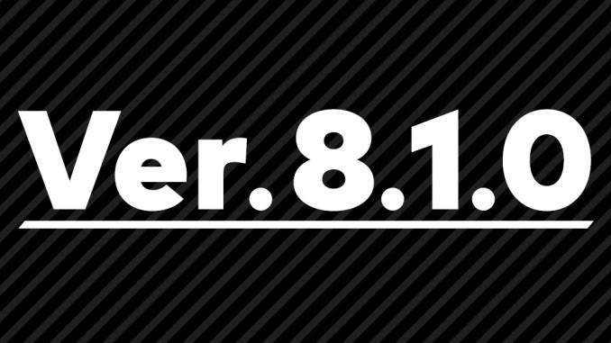 Das Bild zeigt die Version 8.1.0 von Super Smash Bros. Ultimate