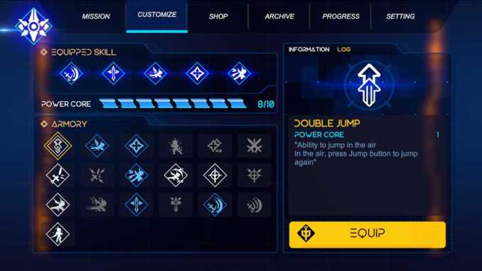 """Das Bild zeigt das Waffensystem aus dem Spiel """"Fallen Knight""""."""