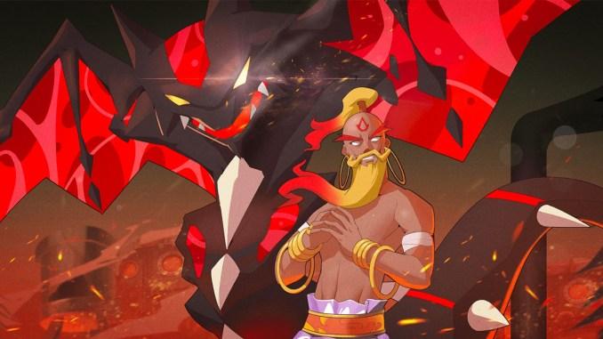"""Das Spiel zeigt einen Großmeister und einen Tyrannten aus dem Spiel """"Nexomon: Extinction""""."""