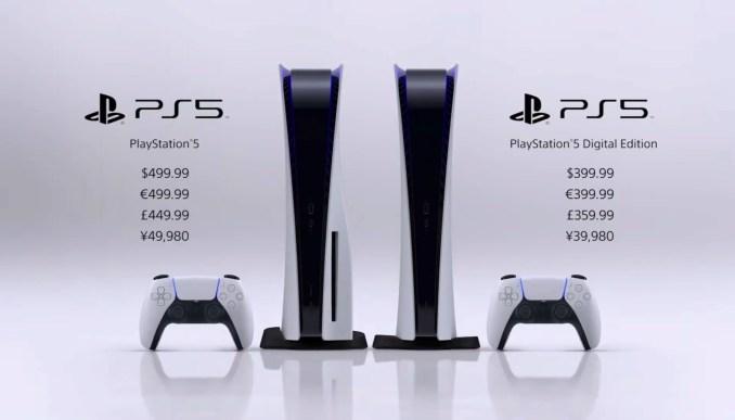 Das Bild zeigt die während des PS5 Showase gezeigte Preisgestaltung.