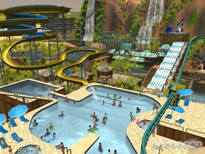 Dieses Bild zeigt Soaked aus RollerCoaster Tycoon 3