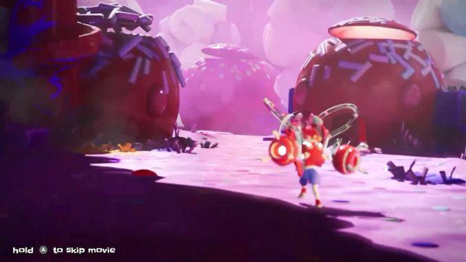 """Das Bild zeigt Candy Cinnamon, einen Charakter aus dem Spiel """"Georifters"""", welche durch ihre Welt läuft."""