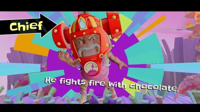 """Das Bild zeigt Chief BonBon, einen Charakter aus dem Spiel """"Georifters""""."""