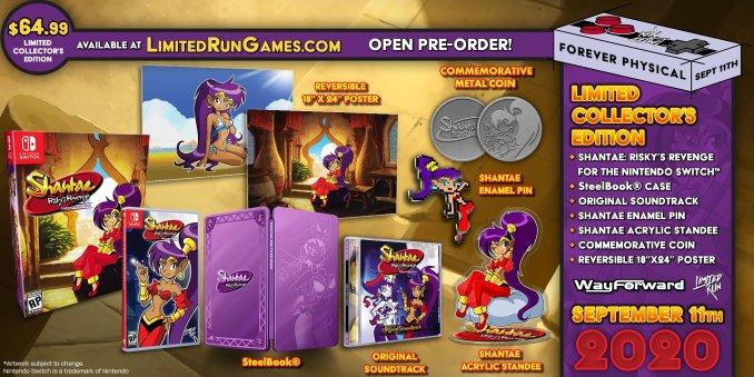 """Das Bild zeigt die Collector's Edition von """"Shantae: Risky's Revenge""""."""